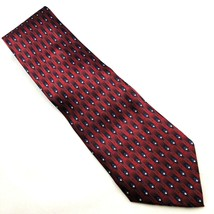 Ziggurat Men's Neck Tie By Mulberry Neckwear Burgundy 59 x 4 Silk Hand Made - $9.97