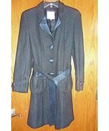Rebecca Taylor Black Coat with Belt Size 2 guc - $49.49