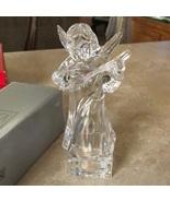 Mikasa Crystal Angel Mandolin Statue Figurine Mikasa Solid Crystal - $325.00