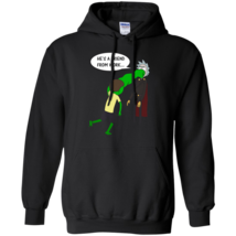 He's a friend from work - Morty puching Rick funny Pullover Hoodie 8 oz. - $37.95+