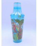 Parrot Drink Cocktail Shaker Martini Mixer Set Blue Acrylic Macaw Bird I... - $14.99