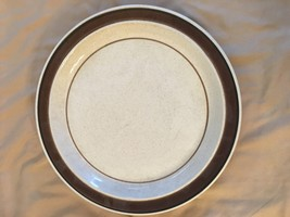 "MIKASA STUDIO GLAZE 12"" ROUND PLATTER / CHOP PLATE- STONEWARE -BEIGE / B... - $26.99"
