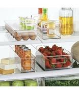 Freezer Storage Organizer Bins Containers Holder Refrigerator Food Clear... - $53.06