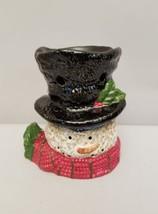 Yankee Candle Snowman Christmas Tart Wax Melt Tealight Warmer Burner Sno... - $9.89
