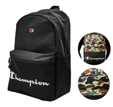 Champion Men's Manuscript Canvas School Backpack Shoulder Zipper Book Bag