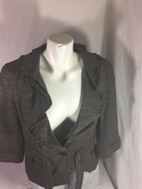 Loft Women Gray Button Up Jacket Size 10 Long Sleeve Made In Lanka Bin66#34 - $14.03