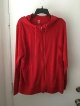 Anne Klein Sport Red Zip Up Hoodie Jacket Size 2X NWT - $22.16