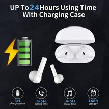 Wireless Earbuds Bluetooth 5.0 Integrated Microphone, IPX5 Waterproof image 5