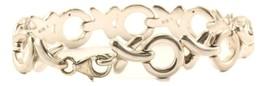 Vintage XOXO Open Design Link Bracelet Sterling 925 BR 2924 - $49.99