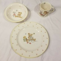 Retired Mikasa Teddy Lunch Set Mug, Soup Bowl, and Dinner Plate CC018 Ma... - $18.99
