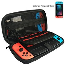 Nintendo Switch Case with Screen Protector [Holds 20 Games] Game Case fo... - $13.01