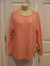 NWT $ 30  Womens ST. JOHNS BAY TUNIC Top PEACHY PINK LONG SLEEVE Size LARGE - $21.77