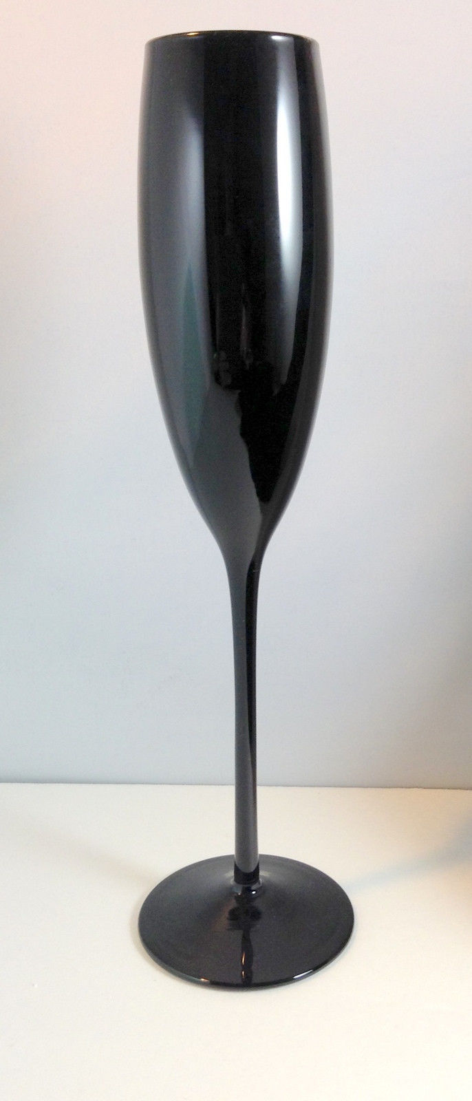 Primary image for Set of 4 Mikasa Midnight Black Champagne Flutes