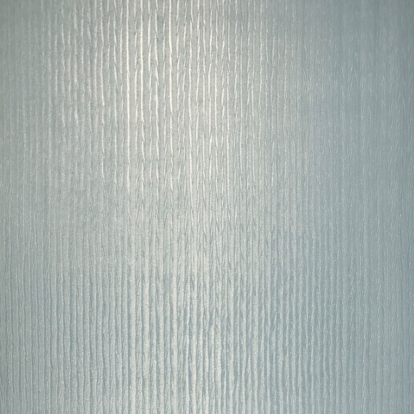 Wallpaper Blue Silver Metallic Textured Lines Modern Plain Wall Coverings
