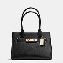 COACH SWAGGER CARRYALL Tote F 36488 shoulder bag LEATHER BLACK NWT  MSRP... - $172.26