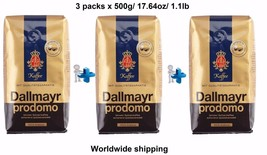 Coffee beans Dallmayr Prodomo 3 x pack 100% Arabica each 500g / 17,6oz /... - $22.76