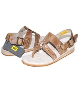 ✿ CATERPILLAR Birdsong Studded Antiqued-Latte Leather Sandals 10 M NEW! ... - $56.04