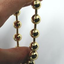 18K YELLOW GOLD BRACELET, SEMIRIGID, ELASTIC, BIG 10 MM SMOOTH BALLS SPHERES image 4
