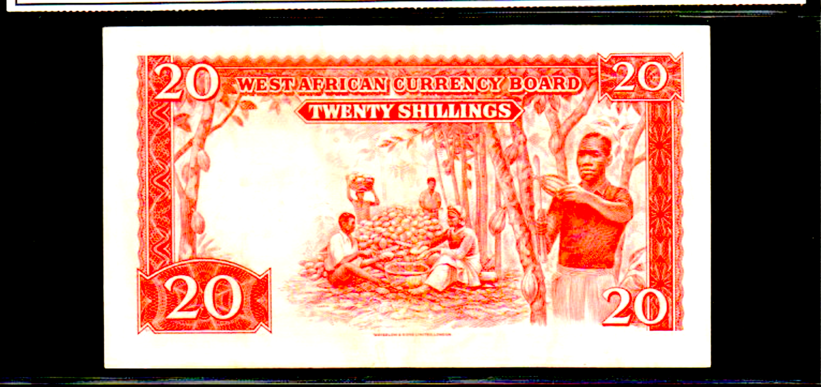 BRITISH WEST AFRICA P10a 20 Shillings 1953 Looks Uncirculated River Scene