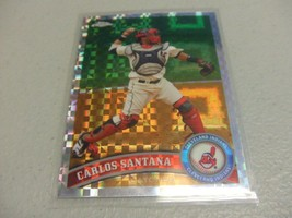 2011 Topps Chrome X-Fractor #53 Carlos Santana -Cleveland Indians- - $3.12