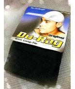 THE CHALLENGER  BLACK DURAG WITH THICKER FABRIC AND LONG TIE #1000BK - $2.37