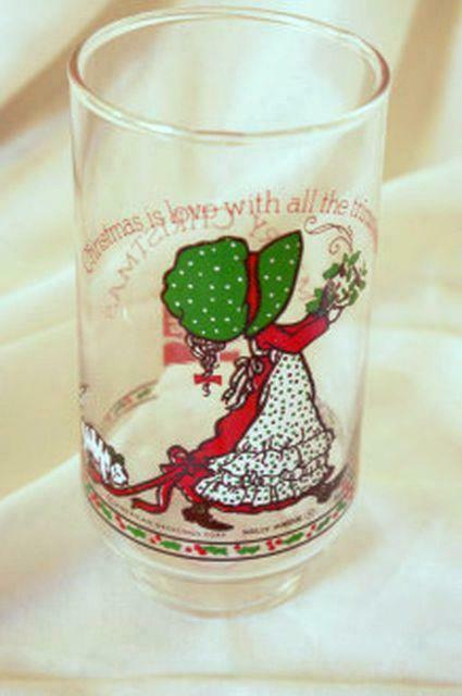 Primary image for Coca Cola American Greetings Holly Hobbie With Christmas Dish Tumbler 16 oz.