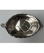 Vintage Silver Plate Leaf Shaped Serving Tray Rose Handle International ... - $11.39