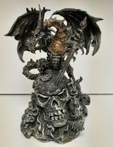 DeCapoli Collection Sculpture Art Dragon Skull Warrior Sword Lid Storage... - $89.89