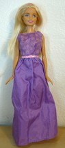 Mattel New Generation Barbie Doll in purple satin dress  - $12.38