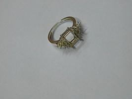 925 sterling Silver mount Ring,Octagone 8X6 mm, RI-0110,ring,all size av... - $10.50