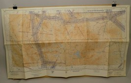 Yellowstone Park Vintage Old Map Aeronautical Chart US Air Force Montana... - $24.99