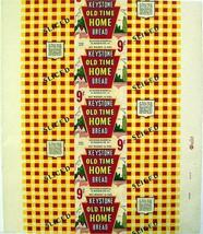 Vintage bread wrapper KEYSTONE dated 1943 West Bridgewater PA new old st... - $9.99