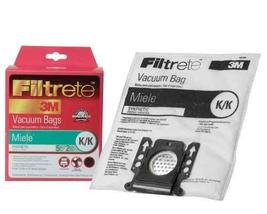 5 X Filtrete Miele K/K Synthetic Bags and Filters, 5 Bags and 2 Filters - $48.99