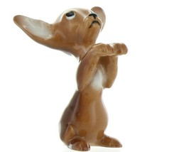 Hagen Renaker Pedigree Dog Chihuahua Begging Brown and White Ceramic Figurine
