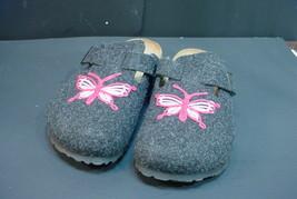 P API Llio By Birkenstock Women's Size 7 Black Felt Butterfly Slip-On Clogs - $44.55