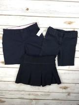 Girls School Uniform Bundle Shorts Skirt Navy Blue 4 5 Chaps Gap Kids 3 Piece - $23.84