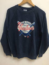 Vintage 90s New York Yankees MLB Baseball Big Logo Sweatshirt Streetwear - $55.00