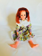 "Crissy Ideal Doll 17"" Tall Red Hair Floral Dress Vintage 1969 Growing Hair - $29.69"