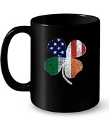 Irish American Flag St Patricks Day Ireland Shamrock Gift Coffee Mug - $13.99+