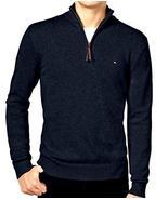 Tommy Hilfiger Men's Quarter-Zip Pullover Sweater, Navy Blue (XL) - $74.24