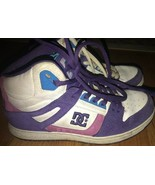 DC Womens sz 8 Skate Shoe Leather Upper High Tops Rebound Hi Purple 2008... - $43.70