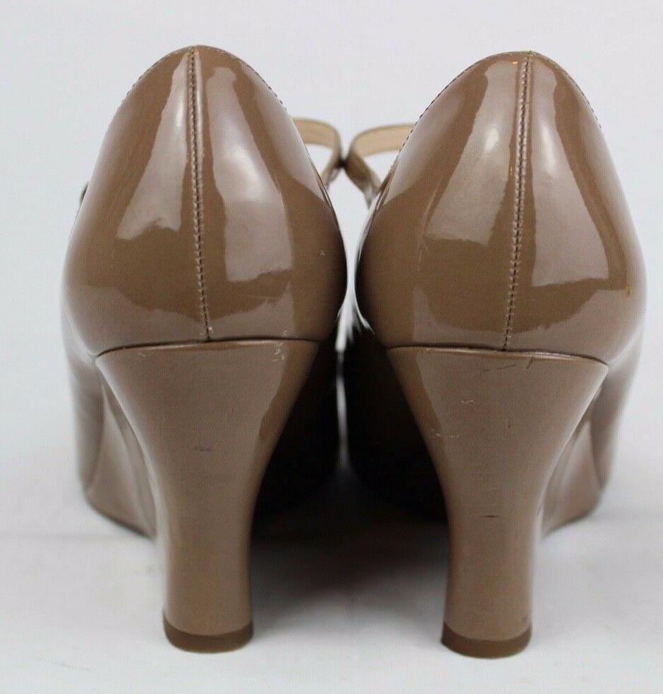 Franco Sarto Sadie Damen Mary Jane Schuhe Vorne Offen Taupe Größe 9M image 4