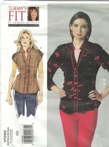 Vogue 1260 Sandra Betzina Shirred Blouse Top Pattern One Size Bust 32-55... - $14.69