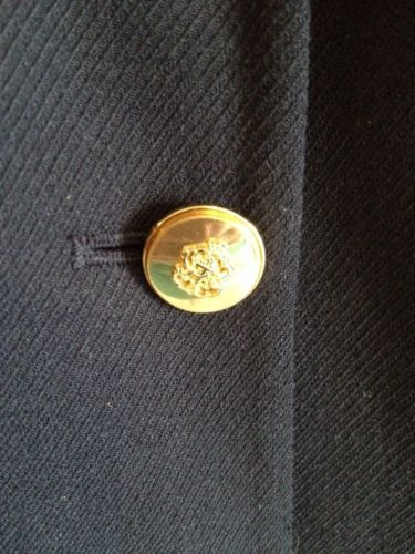 Talbots Navy Wool Blazer Lined Nautical Buttons Professional Career Sz 6 EUC image 2