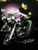 T-Shirt concert Elvis Presley on a motorcycle print - $29.99