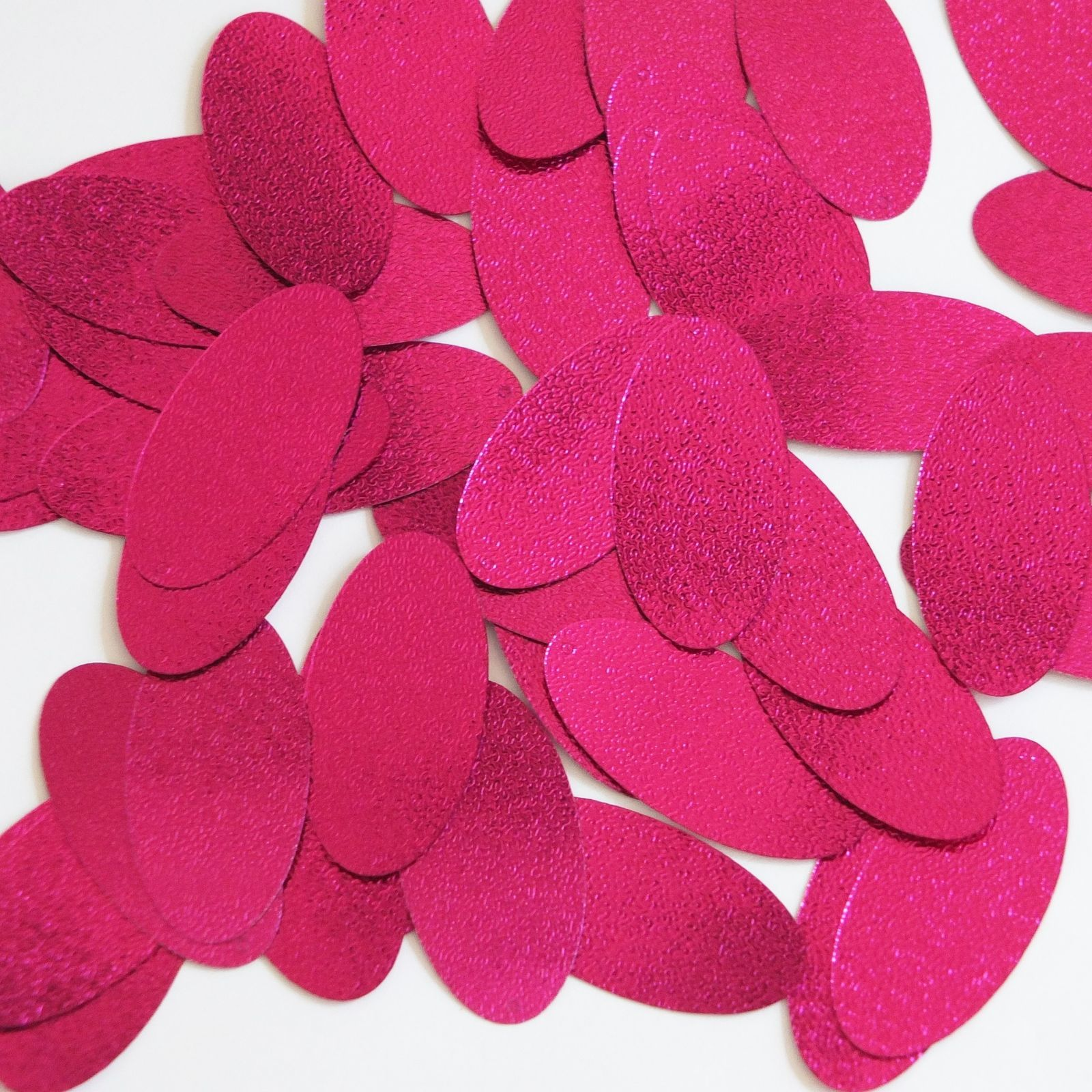"Primary image for Oval Sequin 1.5"" Magenta Pink Metallic Embossed Texture Loose Couture Paillettes"