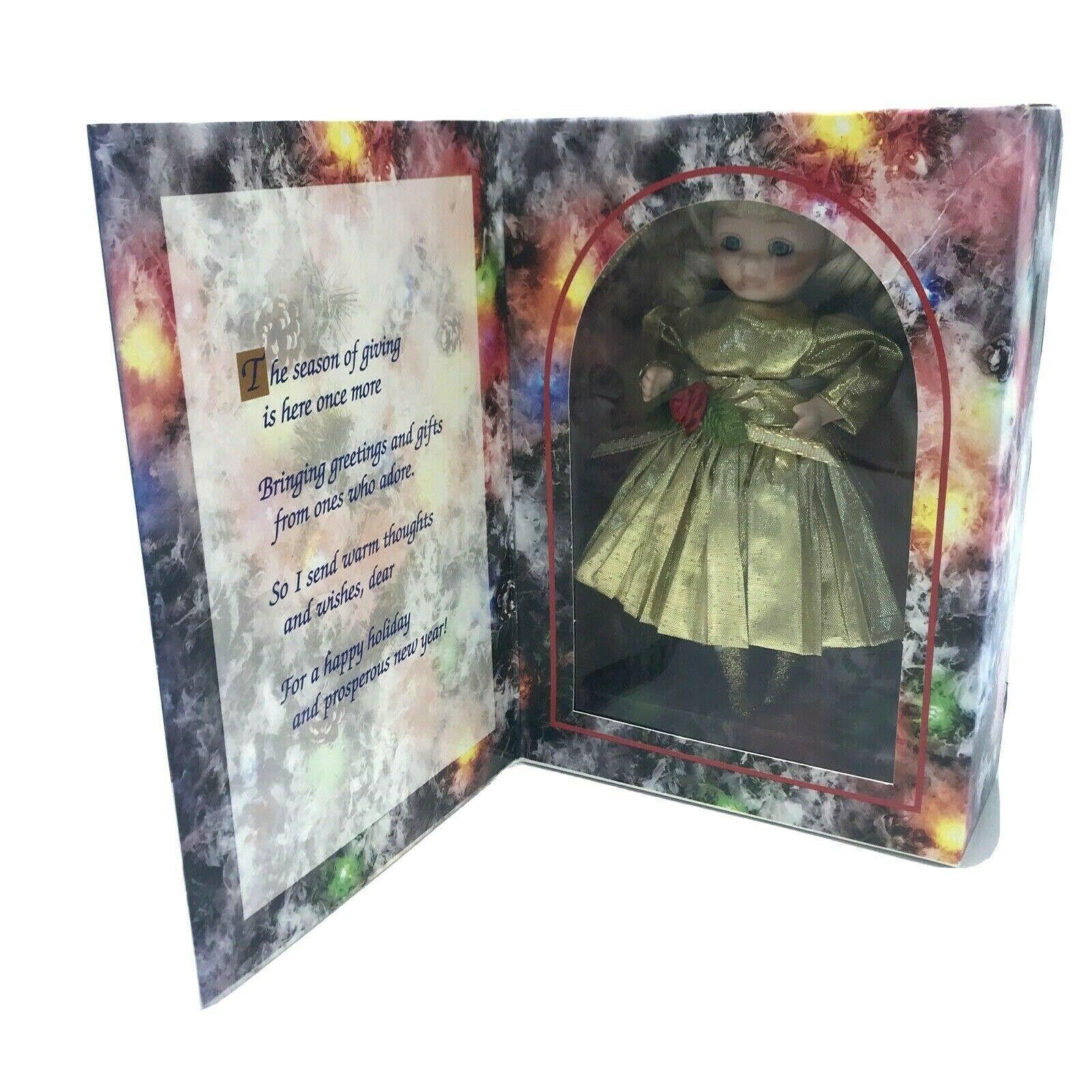 Christmas Greeting Card Doll Marie Osmond Porcelain 1995 Original NIB, Ltd Ed - $12.95