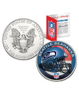 SEATTLE SEAHAWKS 1 Oz American Silver Eagle $1 US Coin Colorized NFL LICENSED - $74.76