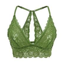 FRDMBeauty Sexy Unlined Lace Sheer Bralette Triangle Bikini Top Wireless... - $23.52