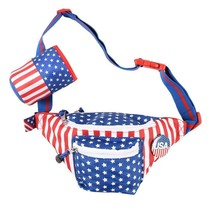 USA Fanny Pack With Beer Holster Blue - $29.98